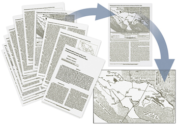 Illustration of how maps and other objects are extracted from publications.